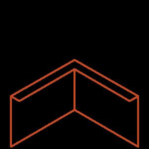 Adezz Producten Adezz Kantopsluiting Cortenstaal Hoek Gezet 30x30x29cm