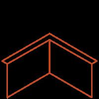 Adezz Kantopsluiting Cortenstaal Hoek Gezet (Opgevouwen) 30x30x29cm