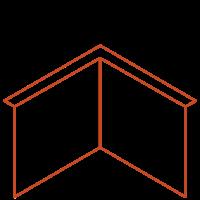 Adezz Kantopsluiting Cortenstaal Hoek Gezet (Opgevouwen) 30x30x39cm