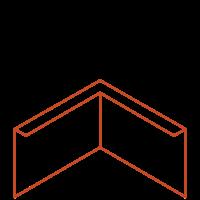 Adezz Kantopsluiting Cortenstaal Hoek Gezet 30x30x29cm