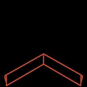 Adezz Producten Adezz Kantopsluiting Cortenstaal Hoek Geplet (Achter) 30x30x10cm