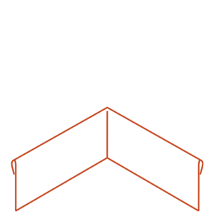Adezz Producten Adezz Kantopsluiting Cortenstaal Hoek Geplet (Achter) 30x30x20cm