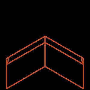 Adezz Producten Adezz Kantopsluiting Cortenstaal Hoek Geplet 30x30x29cm