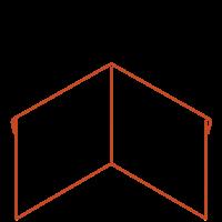 Adezz Kantopsluiting Cortenstaal Hoek Geplet (Achter) 30x30x39cm