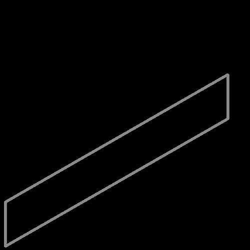 Adezz Producten Adezz Kantopsluiting Verzinkt Staal Recht (10 stuks) 2300x2x150mm