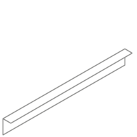Adezz Kantopsluiting Verzinkt Staal Gezet (10 stuks) 2300x2x100mm