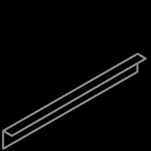 Adezz Producten Adezz Kantopsluiting Verzinkt Staal Gezet (10 stuks) 2300x2x100mm