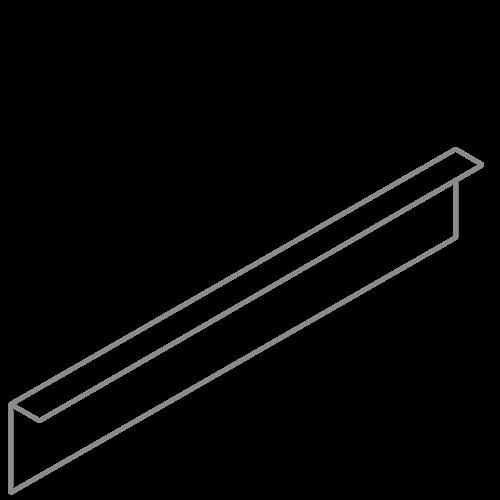Adezz Producten Adezz Kantopsluiting Verzinkt Staal Gezet (10 stuks) 2300x2x150mm