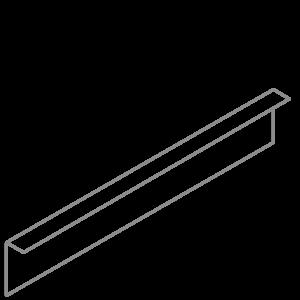 Adezz Producten Adezz Kantopsluiting Verzinkt Staal Gezet (25 stuks) 2300x3x150mm