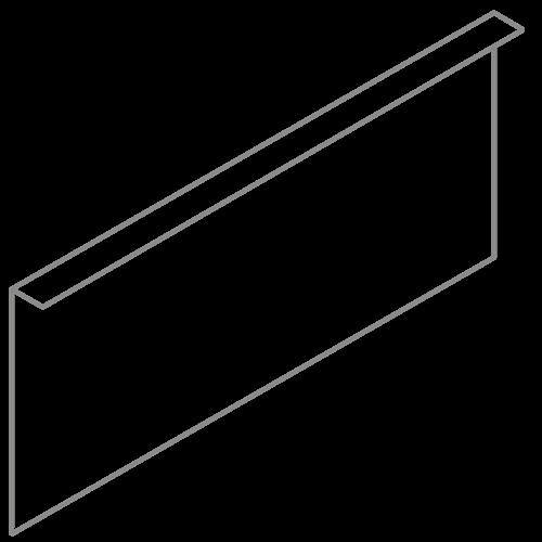 Adezz Producten Adezz Kantopsluiting Verzinkt Staal Gezet (25 stuks) 2300x2x390mm