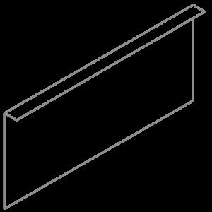 Adezz Producten Adezz Kantopsluiting Verzinkt Staal Gezet (10 stuks) 2300x3x390mm