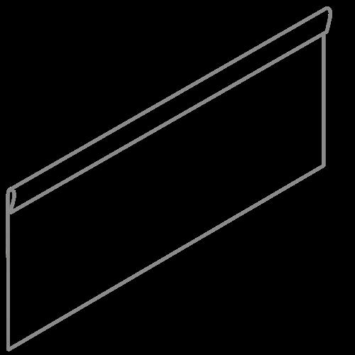 Adezz Producten Adezz Kantopsluiting Verzinkt Staal Geplet (10 stuks) 2300x2x390mm