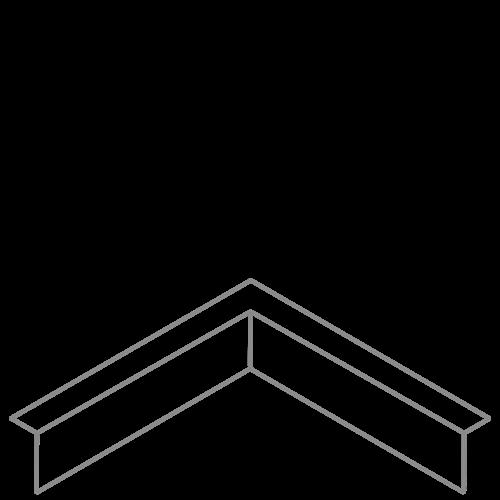 Adezz Producten Adezz Kantopsluiting Verzinkt Staal Hoek Gezet (Opgevouwen) 30x30x10cm