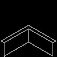 Adezz Kantopsluiting Verzinkt Staal Hoek Gezet (Opgevouwen) 30x30x20cm