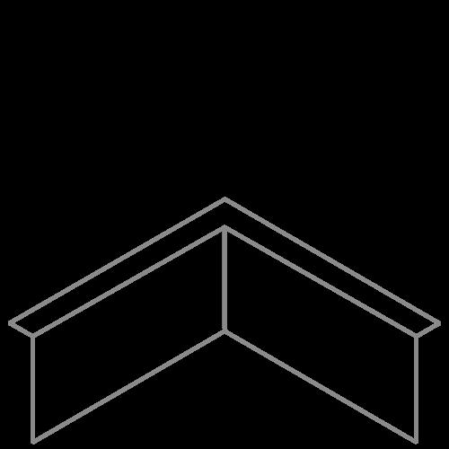 Adezz Producten Adezz Kantopsluiting Verzinkt Staal Hoek Gezet (Opgevouwen) 30x30x20cm