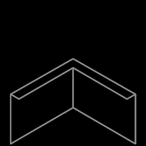 Adezz Producten Adezz Kantopsluiting Verzinkt Staal Hoek Gezet 30x30x29cm