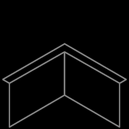Adezz Producten Adezz Kantopsluiting Verzinkt Staal Hoek Gezet (Opgevouwen) 30x30x29cm