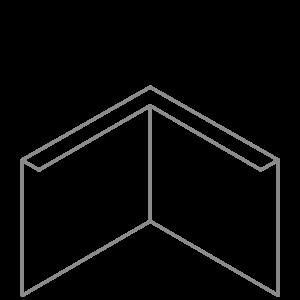 Adezz Producten Adezz Kantopsluiting Verzinkt Staal Hoek Gezet 30x30x39cm