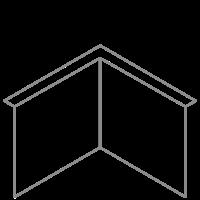 Adezz Kantopsluiting Verzinkt Staal Hoek Gezet (Opgevouwen) 30x30x39cm