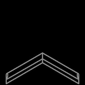 Adezz Producten Adezz Kantopsluiting Verzinkt Staal Hoek Geplet 30x30x10cm