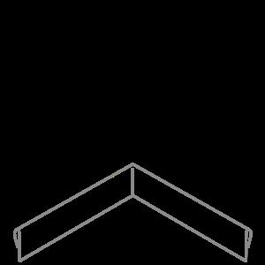 Adezz Producten Adezz Kantopsluiting Verzinkt Staal Hoek Geplet (Achter) 30x30x10cm