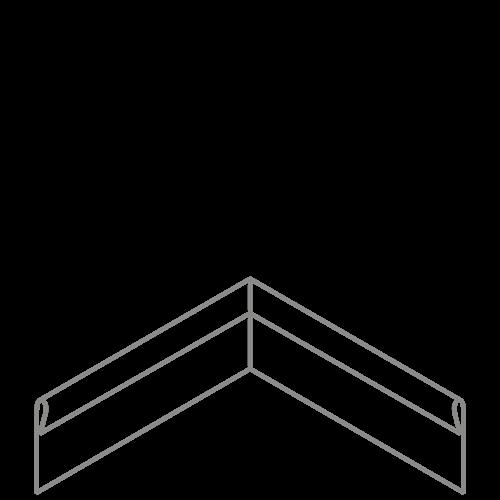 Adezz Producten Adezz Kantopsluiting Verzinkt Staal Hoek Geplet 30x30x15cm