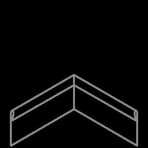 Adezz Producten Adezz Kantopsluiting Verzinkt Staal Hoek Geplet 30x30x20cm