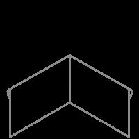 Adezz Kantopsluiting Verzinkt Staal Hoek Geplet (Achter) 30x30x29cm