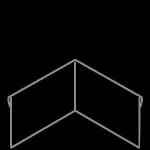 Adezz Producten Adezz Kantopsluiting Verzinkt Staal Hoek Geplet (Achter) 30x30x29cm