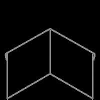 Adezz Kantopsluiting Verzinkt Staal Hoek Geplet (Achter) 30x30x39cm