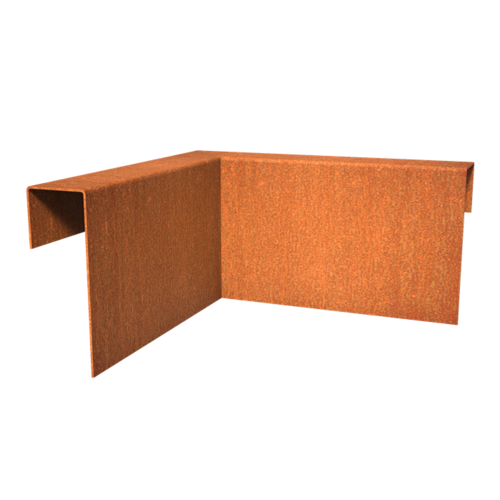 Adezz Producten Adezz Kantopsluiting Cortenstaal Overzet Profiel Hoekstuk (Binnenkant) 30x30x15cm