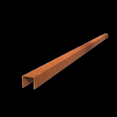 Adezz Producten Adezz Kantopsluiting Cortenstaal Overzet Profiel Recht (10 stuks) 2300x54x50mm