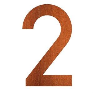 Adezz Producten Adezz Huisnummer Nummer 2 Cortenstaal 73x5x120mm