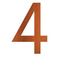 Adezz Huisnummer Nummer 4 Cortenstaal 84x5x120mm