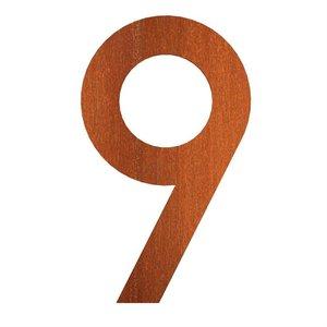Adezz Producten Adezz Huisnummer Nummer 9 Cortenstaal 71x5x120mm