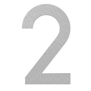 Adezz Producten Adezz Huisnummer Nummer 2 Verzinkt Staal 73x5x120mm