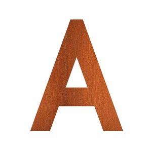 Adezz Producten Adezz Huisnummer Letter A Cortenstaal 75x5x90mm