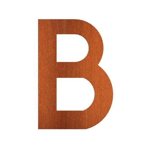 Adezz Producten Adezz Huisnummer Letter B Cortenstaal 62x5x90mm