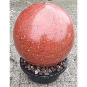 Waterbol set RVS rood 50cm