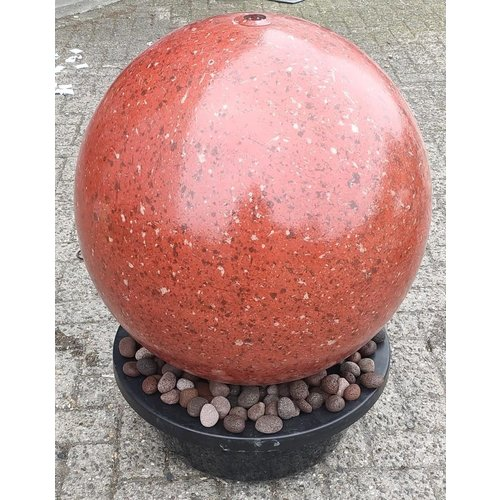 Waterbol set RVS rood 60cm