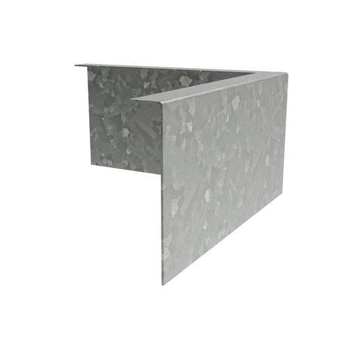 Adezz Producten Adezz Kantopsluiting Verzinkt Staal Hoek Gezet 30x30x15cm