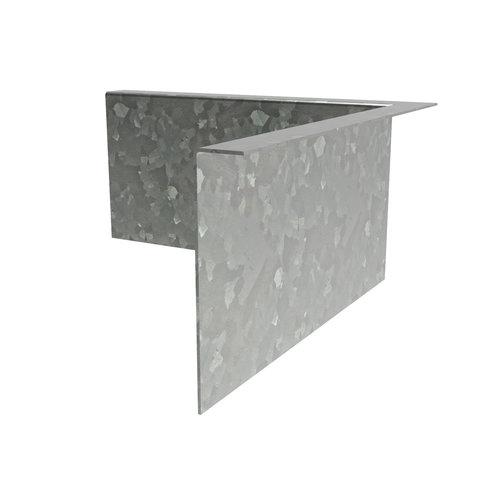 Adezz Producten Adezz Kantopsluiting Verzinkt Staal Hoek Gezet (Opgevouwen) 30x30x39cm