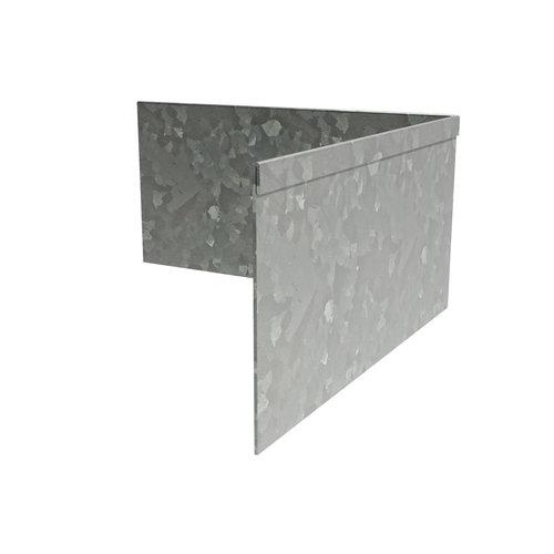 Adezz Producten Adezz Kantopsluiting Verzinkt Staal Hoek Geplet (Achter) 30x30x20cm