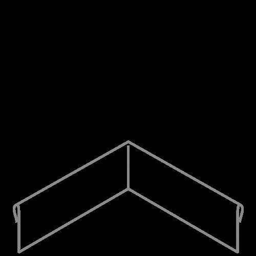 Adezz Producten Adezz Kantopsluiting Verzinkt Staal Hoek Geplet (Achter) 30x30x15cm