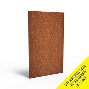 Adezz Producten Adezz Tuinpaneel Cortenstaal Dicht paneel 110x5x180cm