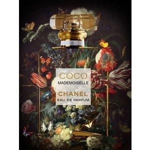 Glasschilderij Coco Mademoiselle 60x80cm.