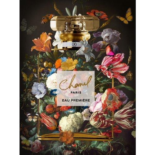 Glasschilderij Chanel Paris 60x80cm.
