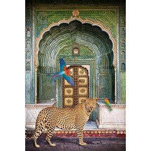 Glasschilderij Panther in living 80x120cm.