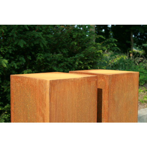Adezz Producten Adezz Sokkel Cortenstaal Vierkant 30x30x100cm