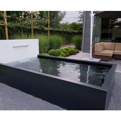 Adezz Producten Adezz Vijver Muren (Vast) (Incl. Waterfall 3 pipes + VP3 Pump) Aluminium Rechthoek 250x25x60cm